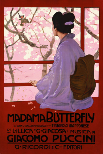 Plakat Puccini, Madame Butterfly