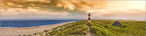 Plakat Elbows-on-Sylt in the evening glow