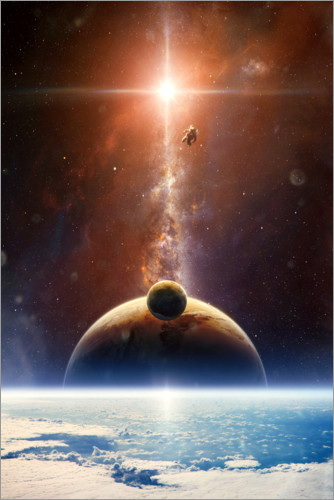 Plakat Excursion in space