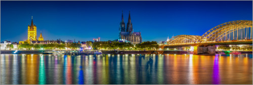Plakat Panorama of the Cologne skyline