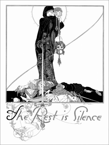 Plakat The rest is silence