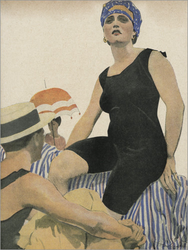 Plakat Swimwear July 1918