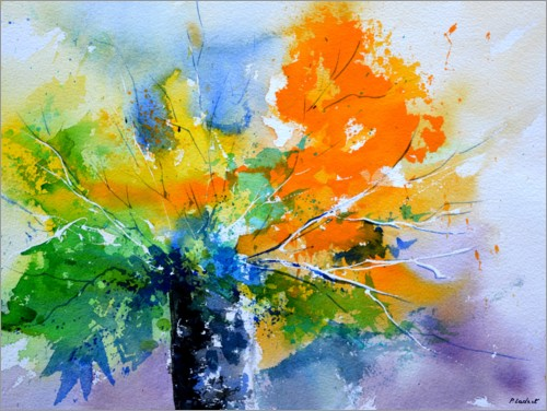 Plakat Colorful, abstract bouquet