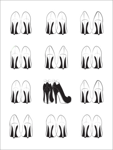 Plakat High Heels Collection