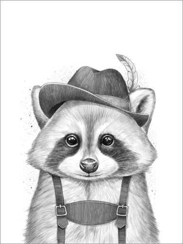 Plakat Raccoon from Bavaria