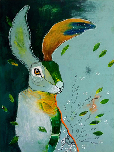 Plakat Abstract hare in wind