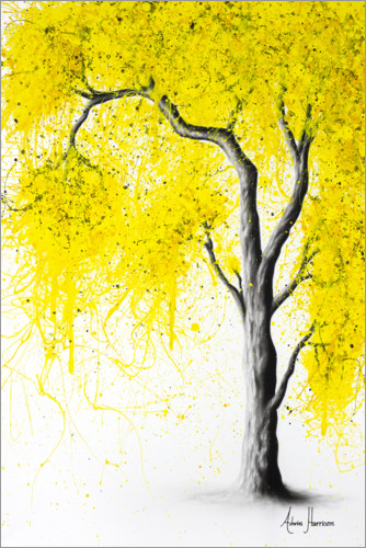 Plakat Fall Tree Yellow