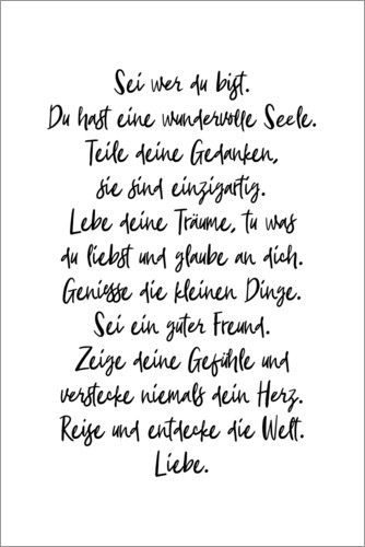 Plakat Be who you are (German)