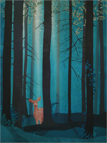 Plakat Fawn in the woods