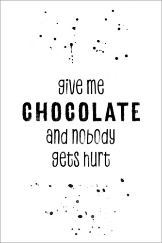 Plakat Give me chocolate