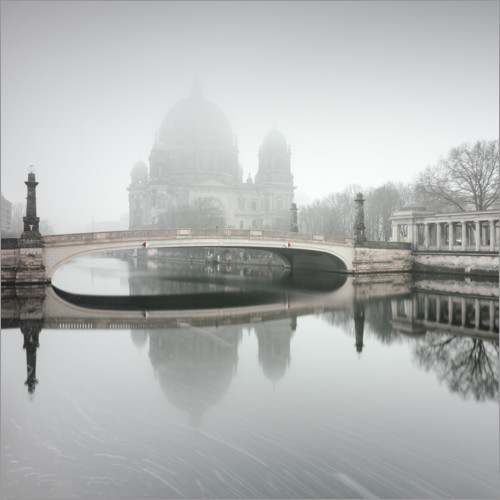 Plakat Berlin Cathedral in the fog