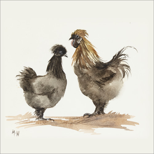 Naklejka na ścianę Chicken couple