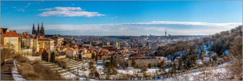 Plakat View over Prague from the Strahov Monastery