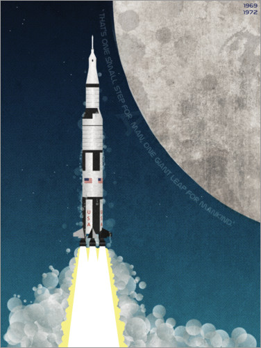 Plakat Apollo missile mission to the moon