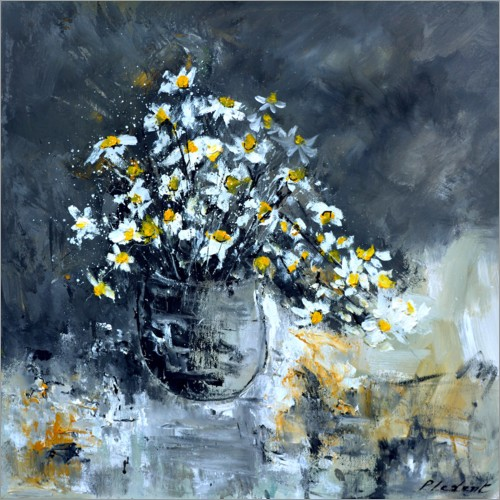 Plakat Still life with daisies