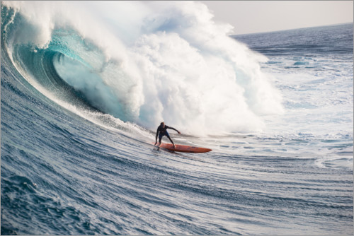 Plakat The perfect wave in Hawaii, USA