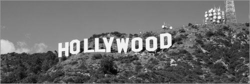 Plakat Hollywood Sign in Los Angeles, California