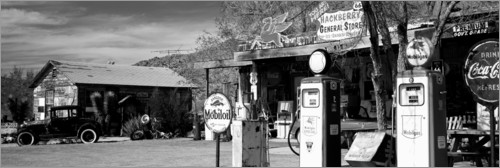 Plakat Gas station on Route 66, Hackenberry, USA