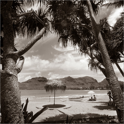 Plakat Holidays under palm trees in the 1930s