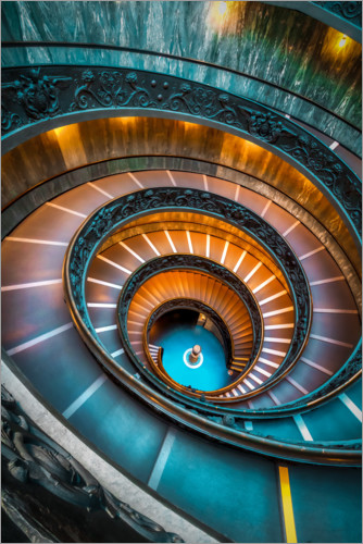 Plakat Spiral staircase Vatican, Rome