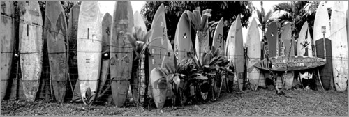 Plakat A fence made of surfboards II