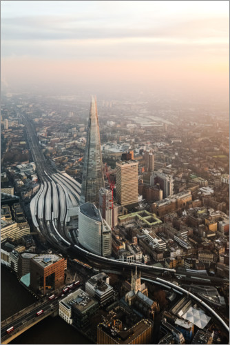 Plakat The Shard at sunset from the top, London, UK