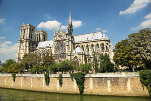 Plakat Shore side of the cathedral Notre-Dame