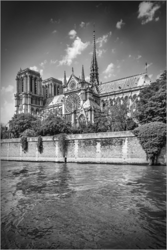 Plakat South facade of the Cathedral Notre-Dame