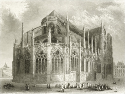Plakat Notre Dame Cathedral, East End
