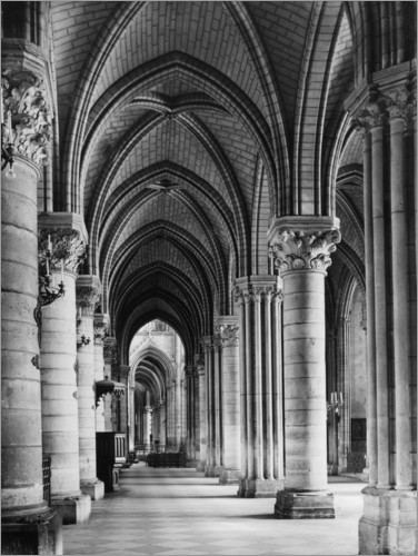 Plakat Interior of Notre Dame cathedral