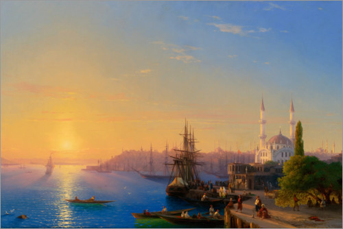 Plakat View of Constantinople and the Bosphorus