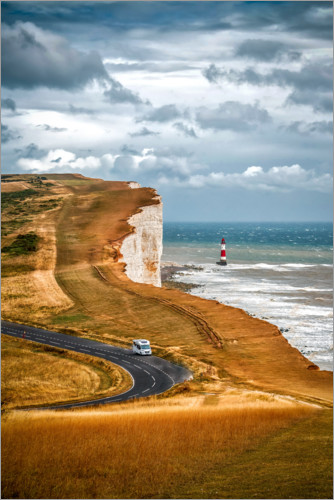 Plakat White Cliffs in southern England