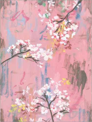 Plakat Cherry blossoms on pink