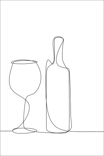 Plakat A glass of wine