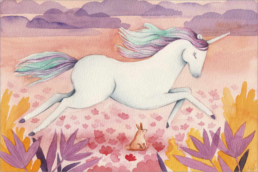 Plakat Galloping unicorn