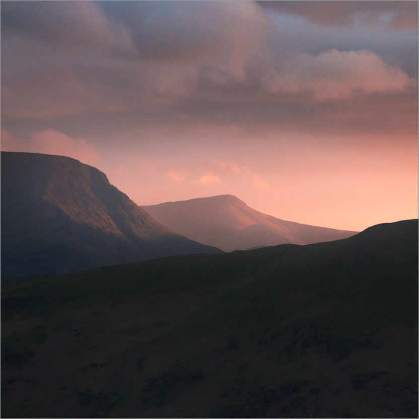 Plakat Sunset over the Lake District