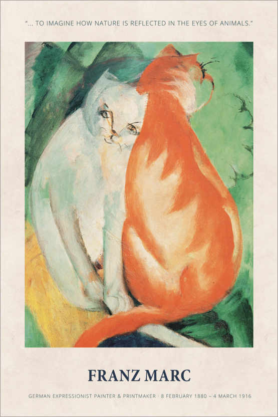 Plakat Franz Marc - In the eyes of animals