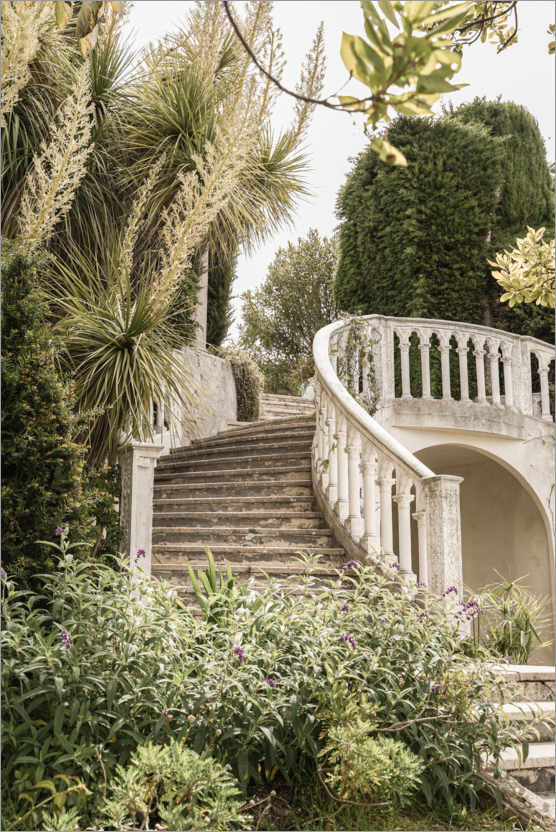 Plakat French Vintage Garden Steps In The South Of France