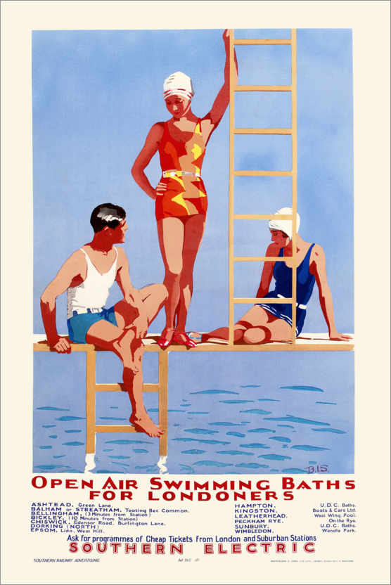 Plakat Open Air Swimming Baths for Londoners