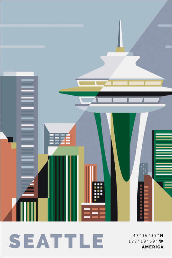 Plakat space needle seattle