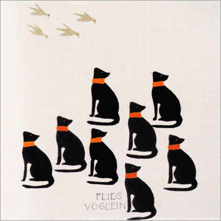 Gallery print  Picture book - fly bird - Koloman Moser