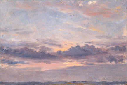 Obraz na drewnie  A cloud study - John Constable