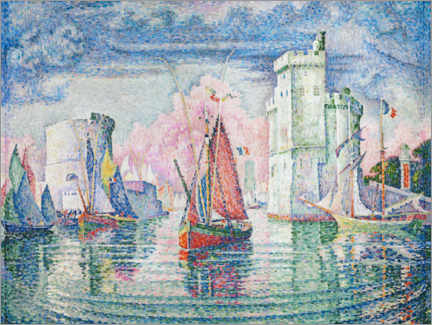 Obraz na płótnie  The Port at La Rochelle - Paul Signac