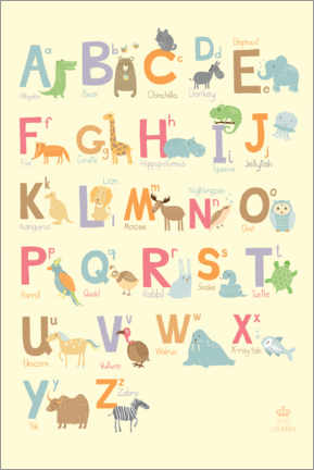 Plakat  Animal alphabet (English) - Petit Griffin