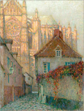 Obraz na szkle akrylowym  Cathedral of Beauvais in the sunset - Henri Le Sidaner