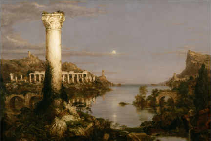 Obraz na płótnie  Course of Empire Desolation - Thomas Cole