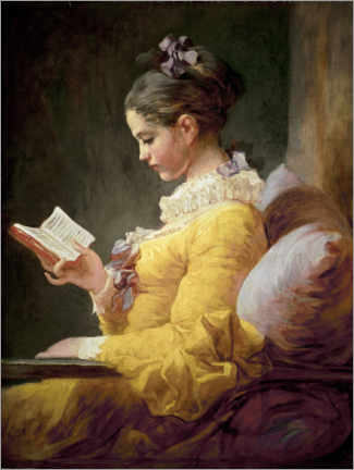 Obraz na płótnie  Young girl reading - Jean-Honoré Fragonard