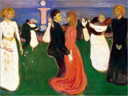 Obraz na płótnie  The Dance of Life - Edvard Munch