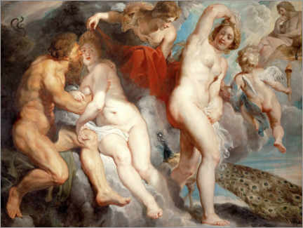 Obraz na aluminium  Ixion, deceived by Juno - Peter Paul Rubens