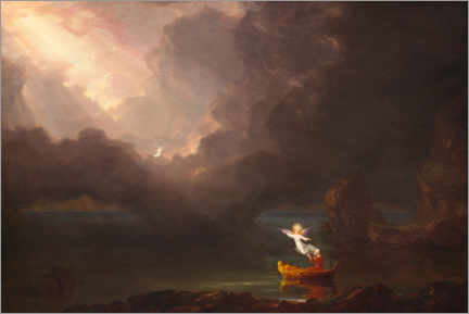 Obraz na drewnie  The journey of life: old age - Thomas Cole